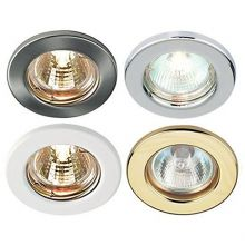 GU10 LED FIXED CEILING STOPLIGHT DOWNLIGHTS RECESSED FITTING MAINS 240V 6 PIECES